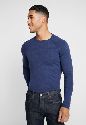 FINE TWISTED CREWNECK - Strickpullover - mottled blue