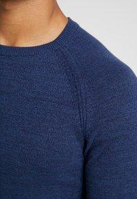 YOURTURN - FINE TWISTED CREWNECK - Svetr - mottled blue - 4
