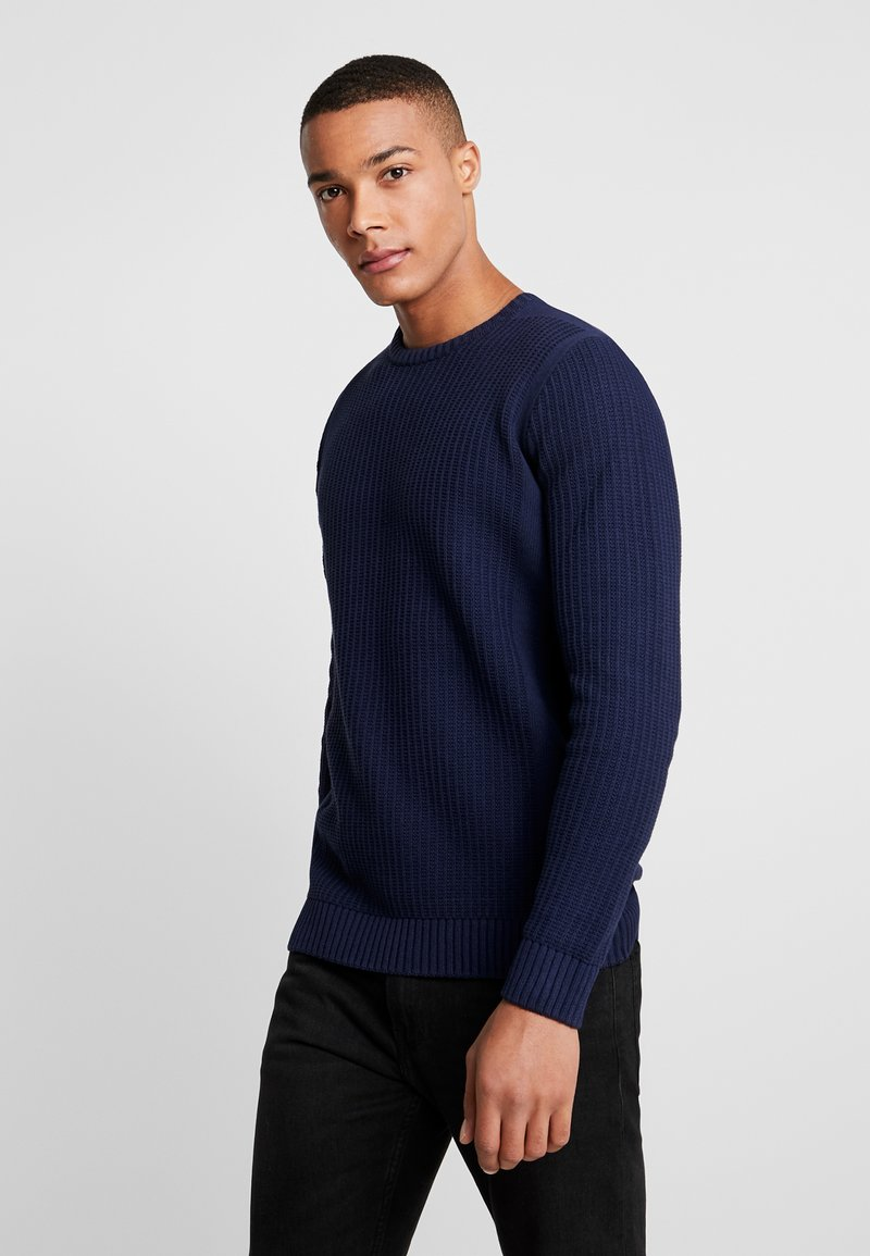 YOURTURN - Strikpullover /Striktrøjer - mottled dark blue