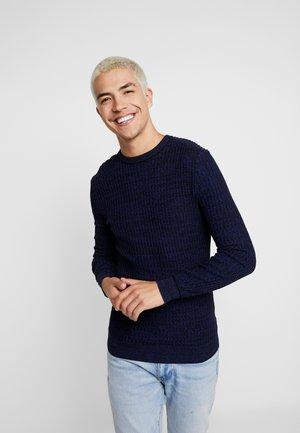 Pullover - mottled blue