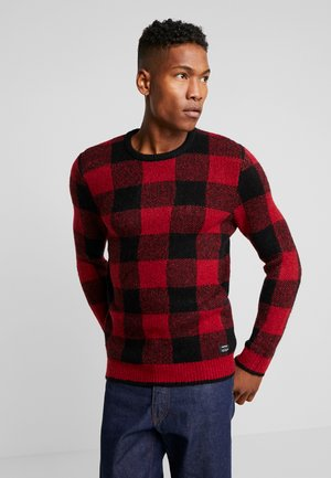 Pullover - red/black