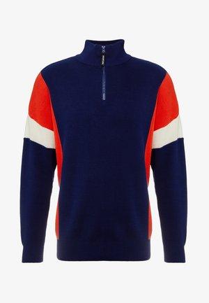 Stickad tröja - blue
