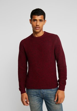 Strickpullover - mottled red