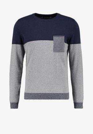 Jumper - mottled grey/dark blue