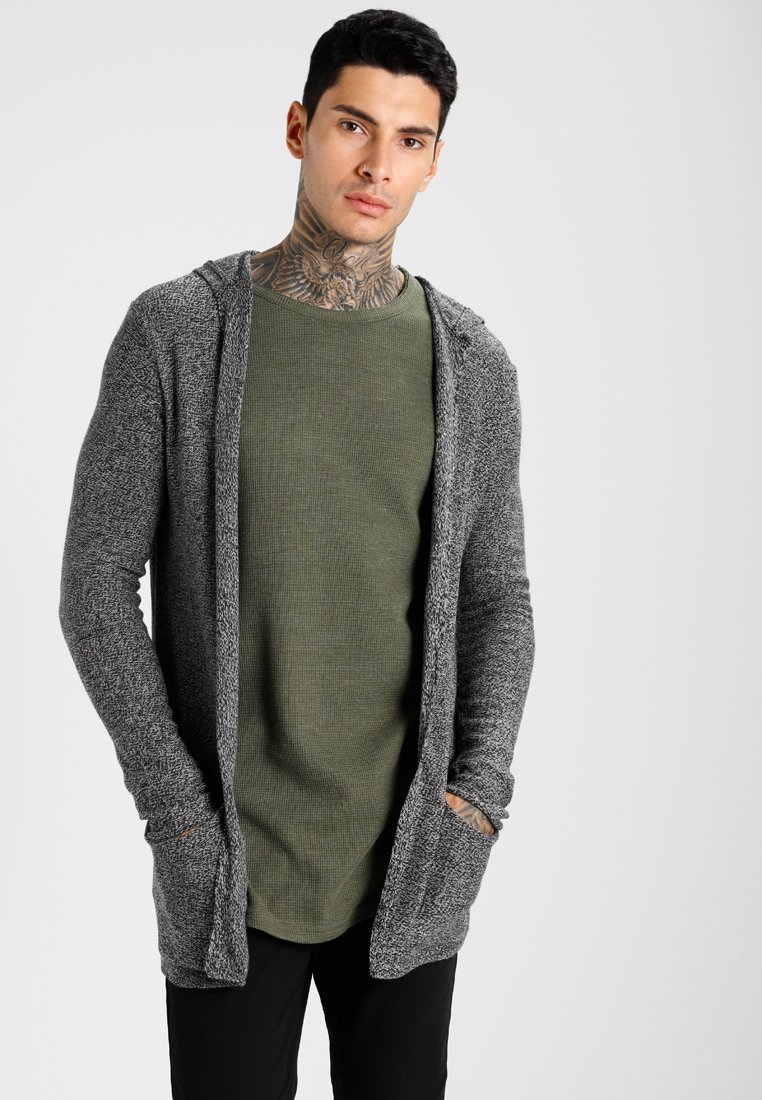 YOURTURN - Strickjacke - light grey/black