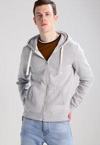 YOURTURN - veste en sweat zippée - light grey melange - 0