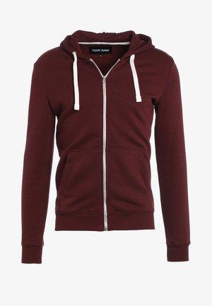 veste en sweat zippée - bordeaux