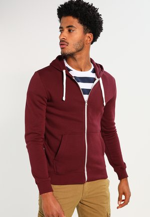 Sweatjacke - bordeaux