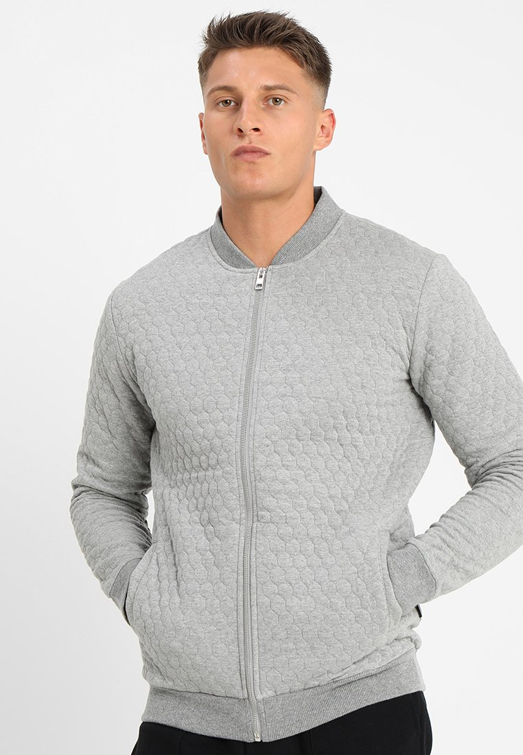 YOURTURN - Zip-up hoodie - mottled grey