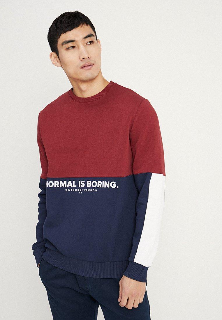 YOURTURN - Sweatshirts - mottled bordeaux/white