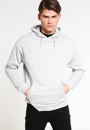 Felpa con cappuccio - mottled light grey