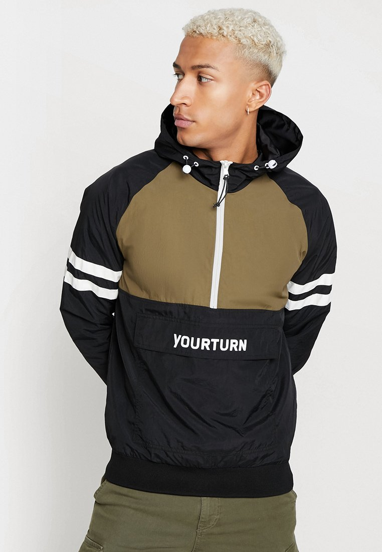 YOURTURN - Windbreaker - olive/black
