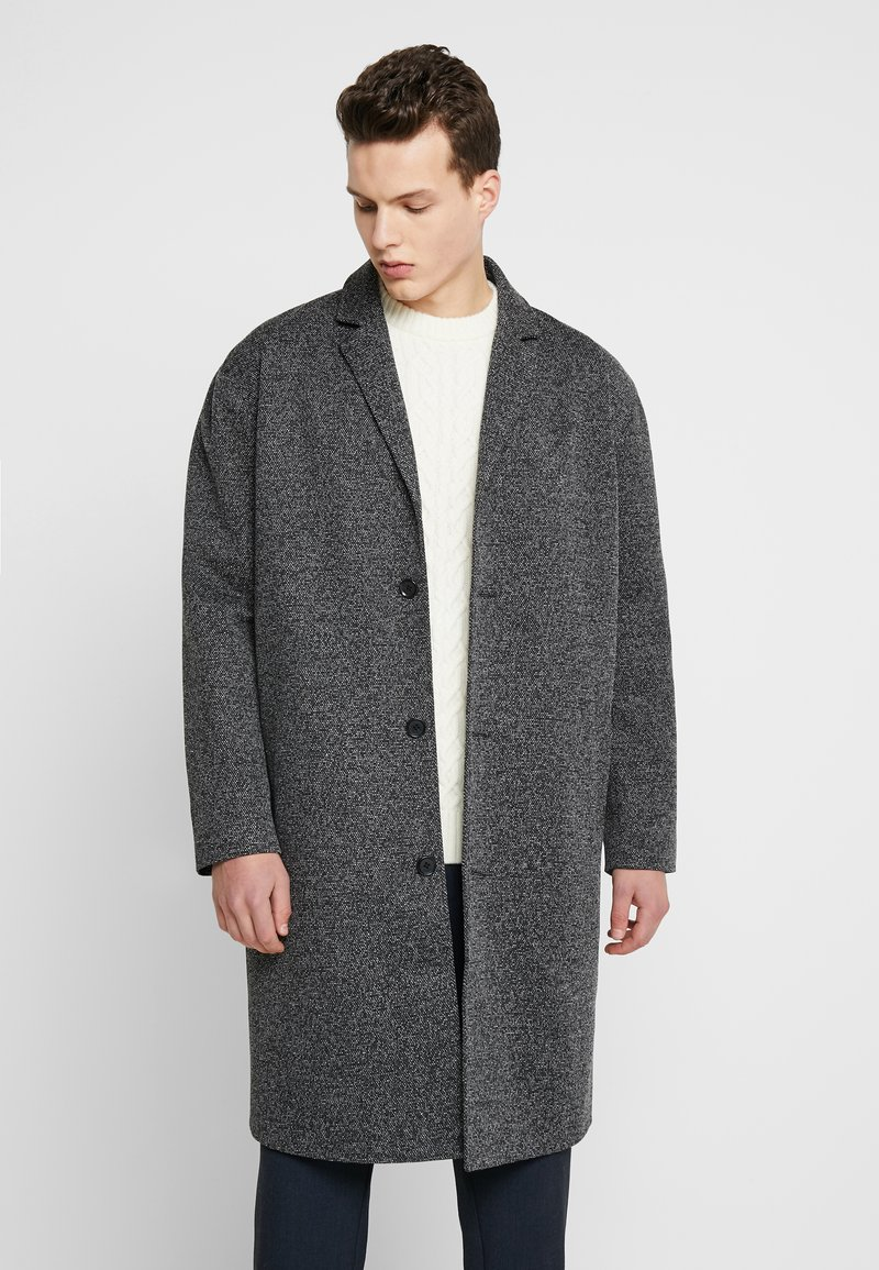 YOURTURN - Classic coat - mottled grey