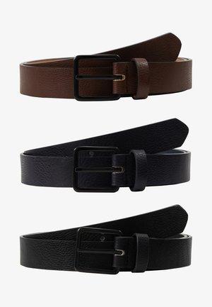 3 PACK - Vyö - dark blue/black/brown