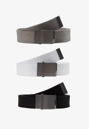 3 PACK - Gürtel - grey/white/black