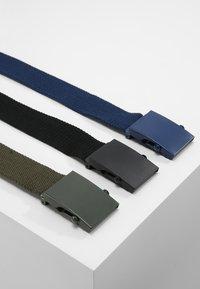 YOURTURN - 3 PACK - Riem - black/navy/khaki - 2