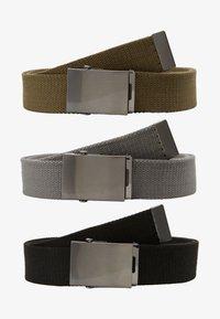 YOURTURN - 3 PACK - Cinturón - black/olive/dark grey - 3