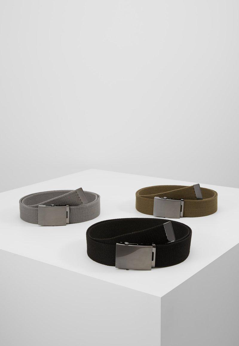 YOURTURN - 3 PACK - Cinturón - black/olive/dark grey