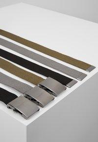YOURTURN - 3 PACK - Cinturón - black/olive/dark grey - 2