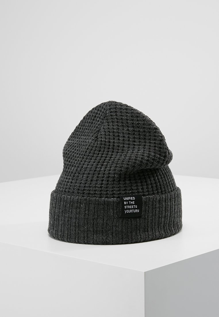 YOURTURN - Beanie - mottled dark grey