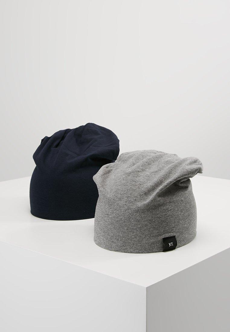 YOURTURN - 2 PACK - Mössa - grey/dark blue
