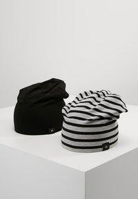 YOURTURN - 2 PACK - Czapka - black/grey - 0