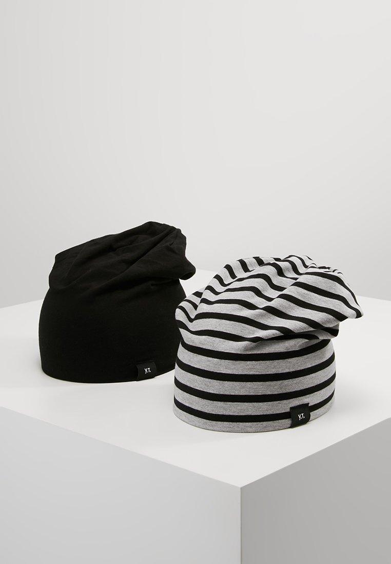 YOURTURN - 2 PACK - Czapka - black/grey