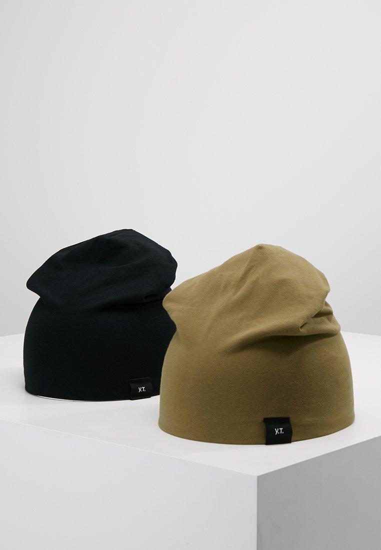 YOURTURN - 2 PACK - Berretto - black/oliv