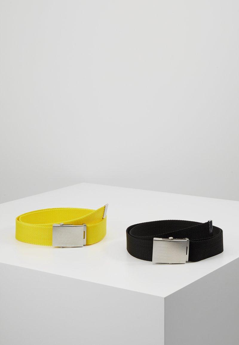 YOURTURN - 2 PACK - Gürtel - black/yellow