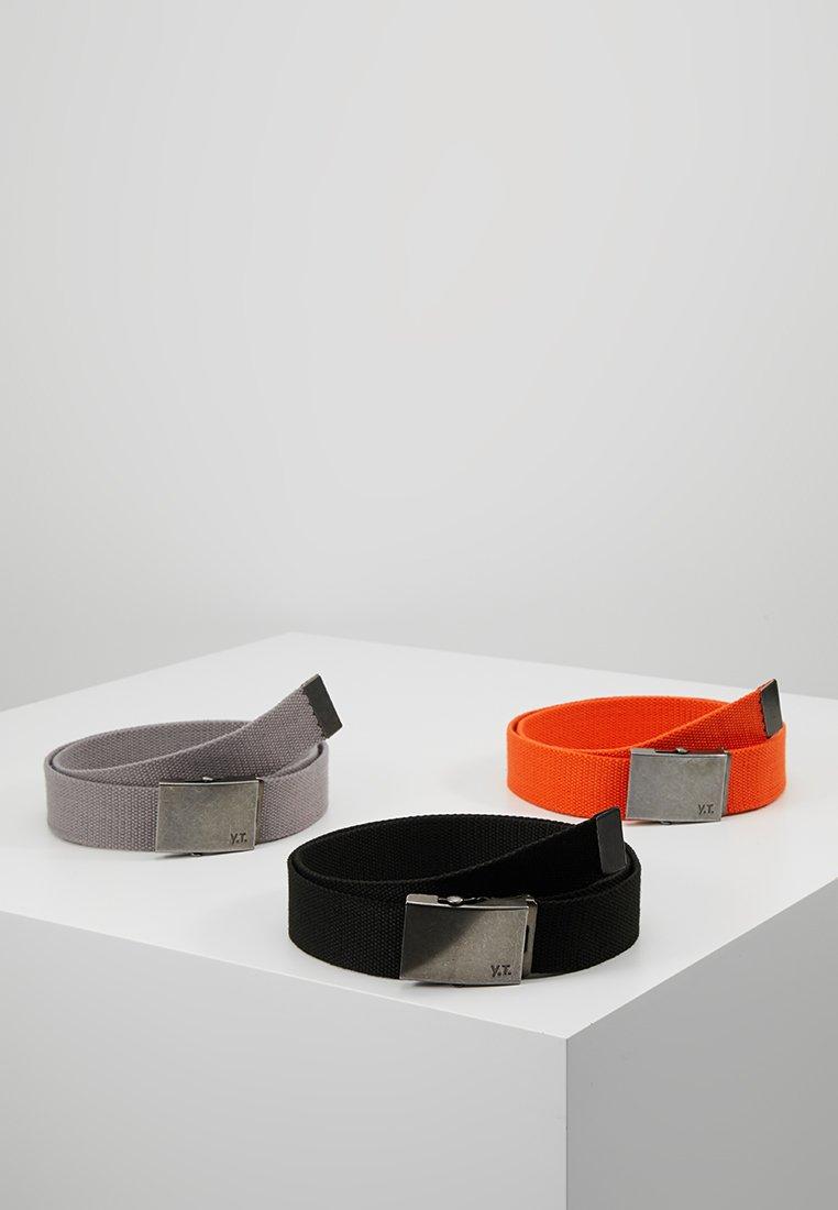 YOURTURN - 3 PACK - Belt - black/orange/grey
