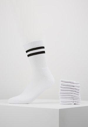 10 PACK - Sukat - white/black