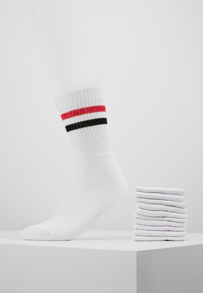 YOURTURN - 10 PACK - Socks - white/red