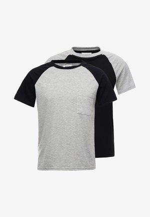 2 PACK - Pyžamový top - grey/black