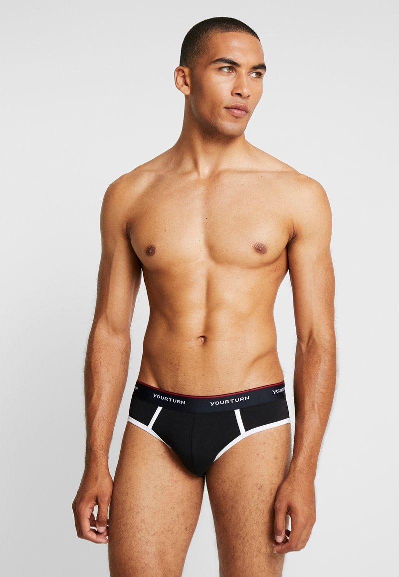YOURTURN - 5 PACK - Panties - black