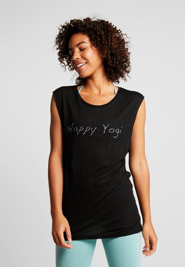VISHNU  - T-shirt con stampa - black