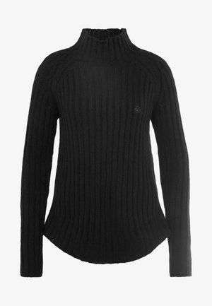 PURUSHA - Stickad tröja - black