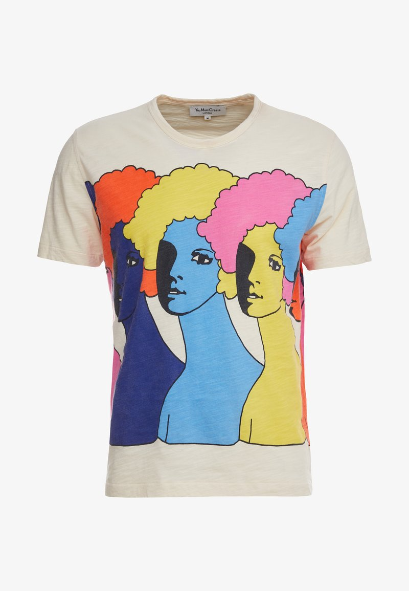 Imprimé Heads shirt You Ecru Must Create TeeT Ymc 345RjLA