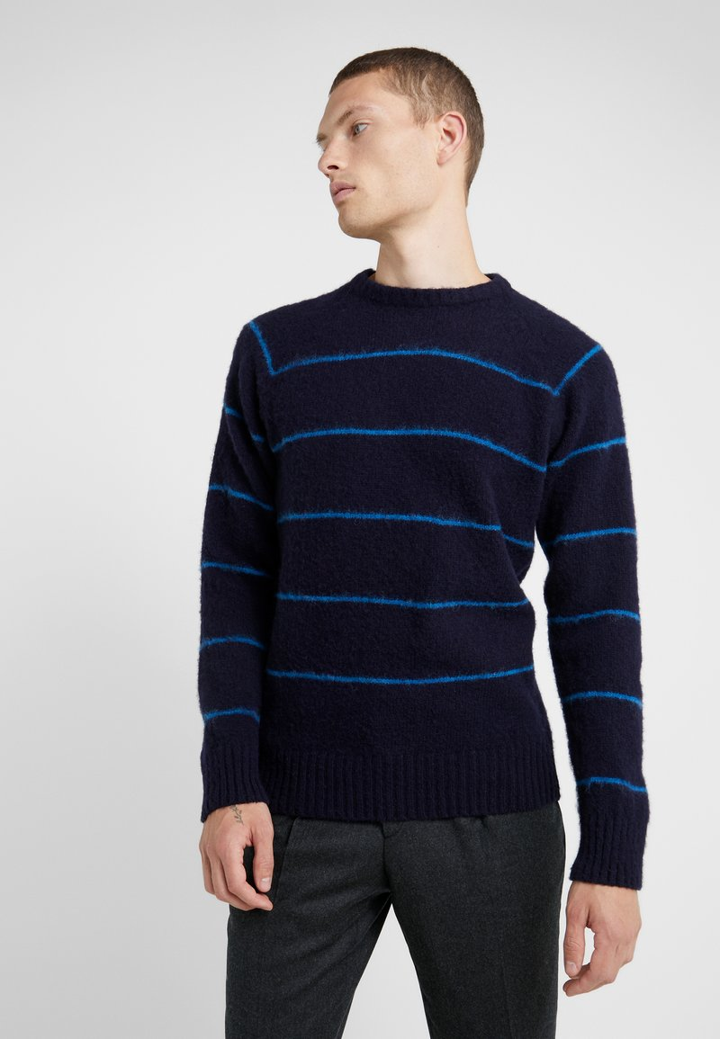 YMC You Must Create - EVERYMAN STRIPE CREW - Jumper - navy/blue