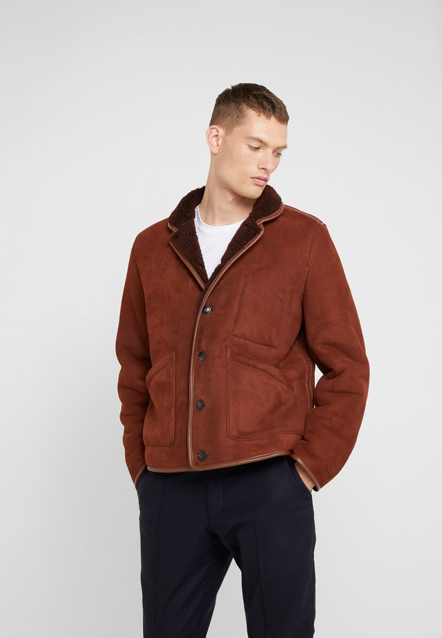 BRAINTICKET JACKET - Leather jacket - brown