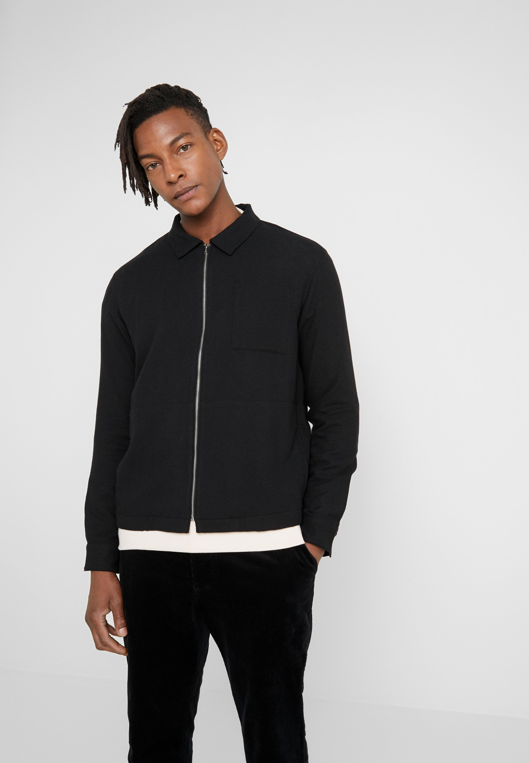 YMC You Must Create BOWIE ZIP SHIRT - Kardigan - black
