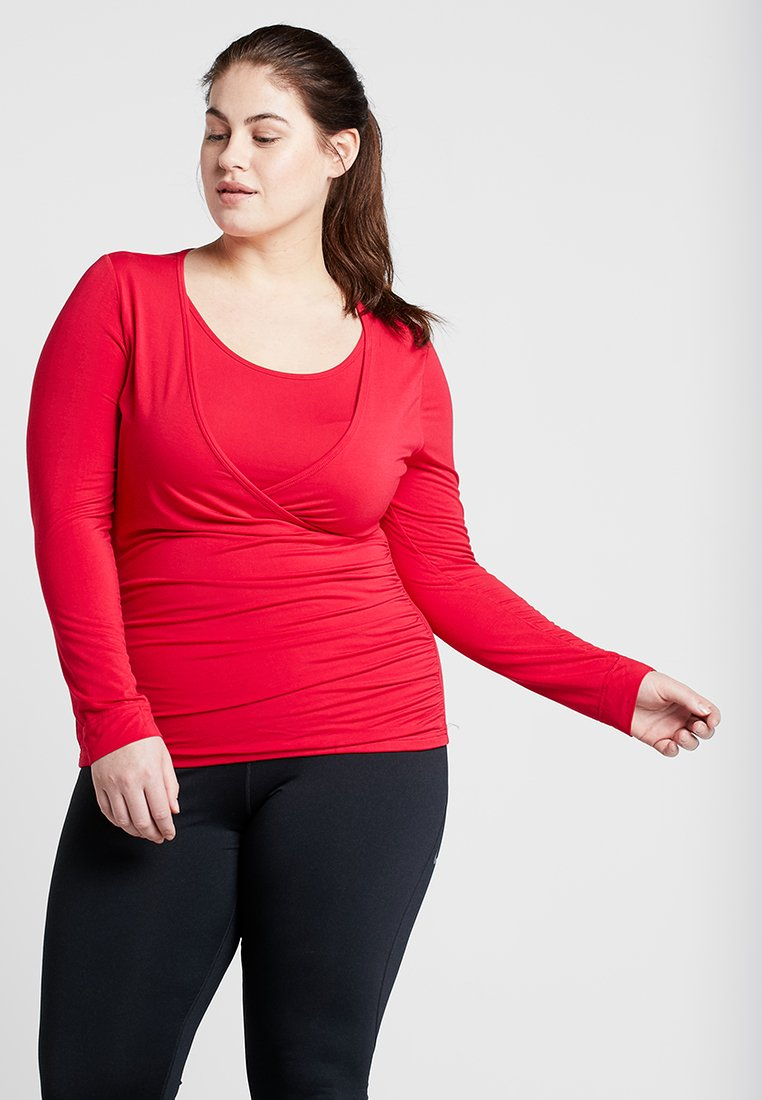 YOGA CURVES - Langærmede T-shirts - cherry
