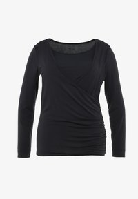YOGA CURVES - Long sleeved top - midnight blue - 4