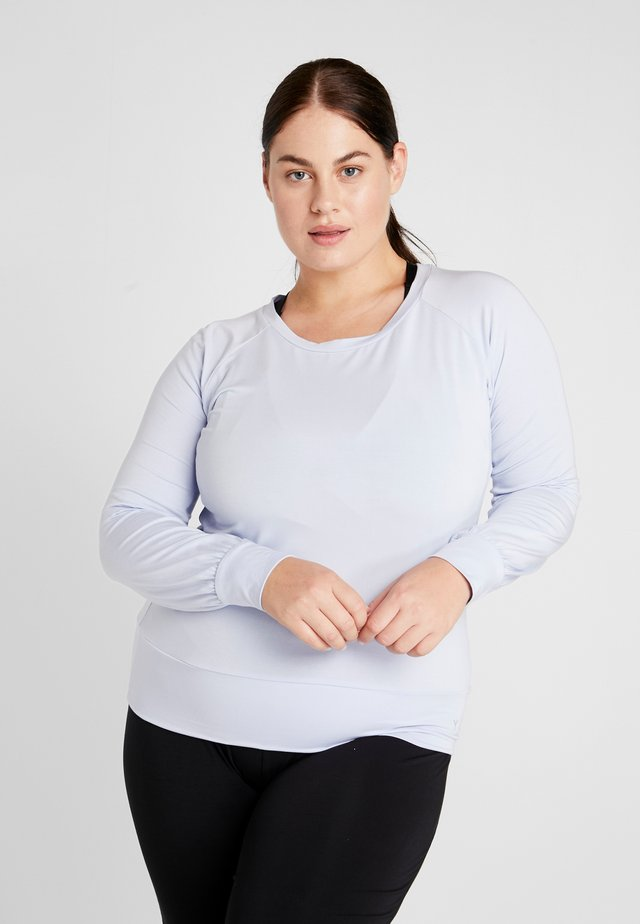 BOAT NECK - Long sleeved top - light blue