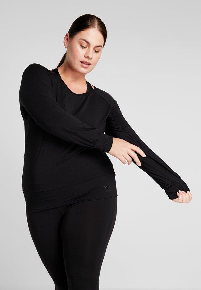 BOAT NECK - Langarmshirt - black