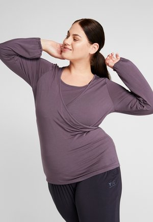 SIDE WRAP  - Long sleeved top - aubergine
