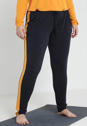 PANTS GALON STRIPE - Pantalones deportivos - midnight blue/aprikose