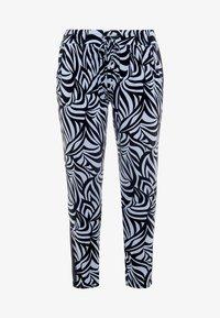 YOGA CURVES - PANTS GALON STRIPE - Teplákové kalhoty - grafik blue/midnight blue - 4
