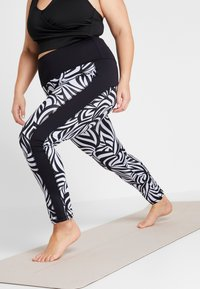 YOGA CURVES - COLOR BLOCKING - Legging - grafik blue/midnight blue - 0