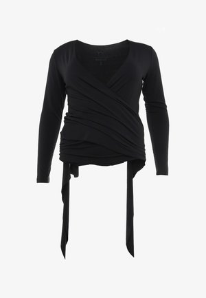 WRAP JACKET - Long sleeved top - midnight blue