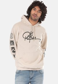 Young and Reckless - SIGNATURE CONTEND - Sweat à capuche - beige - 0